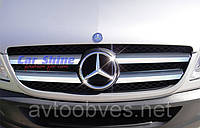 Накладка на решетку Mercedes sprinter 906 (мерседес спринтер 906), нерж, 4шт.