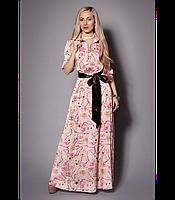 Платье женское макси Платье нарядное из шелка