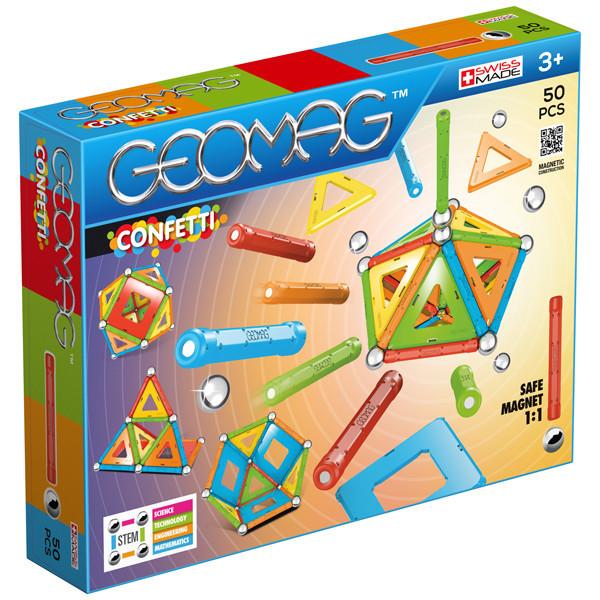 Geomag Confetti 50 деталей | Магнитный конструктор Геомаг PF.515.352.00