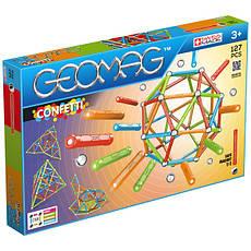 Geomag Confetti 127 деталей | Магнитный конструктор Геомаг PF.515.354.00, фото 3