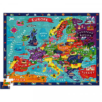 Discover Puzzle (100 элементов) Пазл-игра Bertoy Европа 382920-3                                    , фото 2