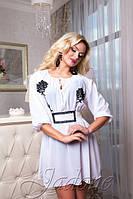 Летнее белое платье - туника Шарм размеры 42-44, 44-46