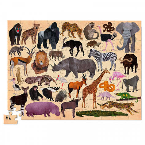 Thirty six puzzle (100 деталей) Пазл Bertoy Дикие животные 384054-2, фото 2