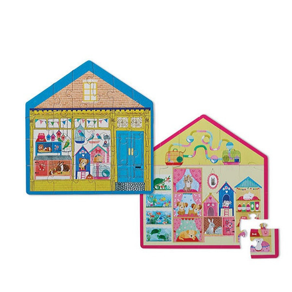 2-Sided Puzzle (24 детали) Bertoy Маленький зоомагазин 384150-2