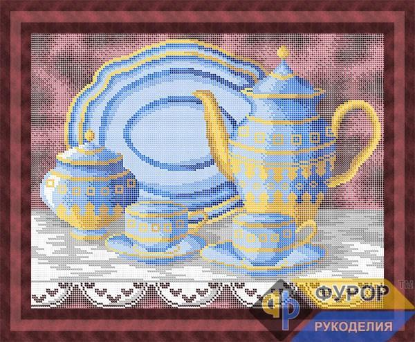 Схема для вышивки бисером картины Натюрморт с посудой (НБп3-165)