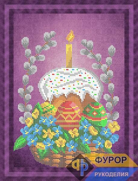 Схема для вишивки бісером картини Великодній кошик (НБч4-139)