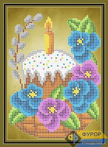 Схема для вышивки бисером картины Пасхальная корзинка (ДБч5-158)