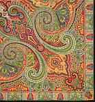 """Платок шерстяной с шелковой бахромой """"Классический"""", 125х125 см, рис. 814-18, фото 2"""