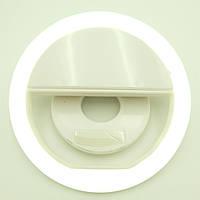 Кольцо для селфи с аккумулятором зарядка от USB 5 Вт 39 Led Selfie Ring light Белый