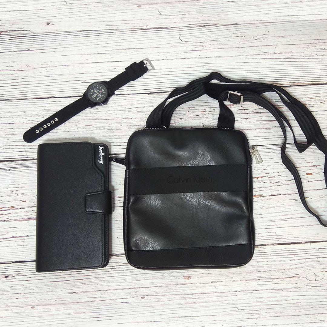 054a96e101df Черная, фото 4 Стильная сумка через плечо, барсетка Calvin Klein, CK  кельвин. Черная, фото 5