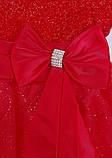 Нарядное красное платье  с коротким рукавом для девочек, фото 6