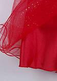 Нарядное красное платье  с коротким рукавом для девочек, фото 7