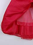 Нарядное красное платье  с коротким рукавом для девочек, фото 8