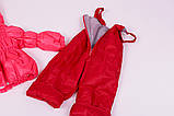 Куртка демисезонная и штаны для девочек от 6 мес до 1,5 лет Кроха  яркий коралл, фото 3