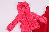 Куртка демисезонная и штаны для девочек от 6 мес до 1,5 лет Кроха  яркий коралл, фото 5