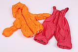 Куртка демисезонная и штаны для девочек от 6 мес до 1,5 лет Кроха  яркий коралл, фото 6
