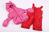 Куртка демисезонная и штаны для девочек от 6 мес до 1,5 лет Кроха  яркий коралл, фото 7