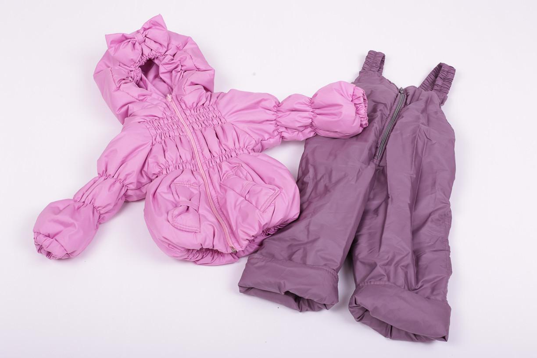 Куртка демисезонная и штаны для девочек от 6 мес до 1,5 лет Кроха  лиловый