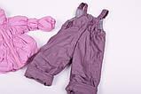Куртка демисезонная и штаны для девочек от 6 мес до 1,5 лет Кроха  лиловый, фото 3
