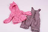 Куртка демисезонная и штаны для девочек от 6 мес до 1,5 лет Кроха  лиловый, фото 9