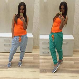 Стильные спортивные штаны с мотней (разные цвета)