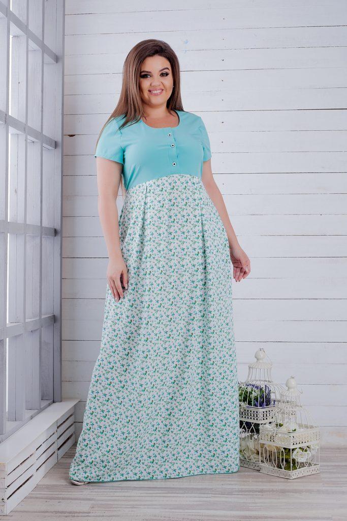 Сукня літній салатова 8257