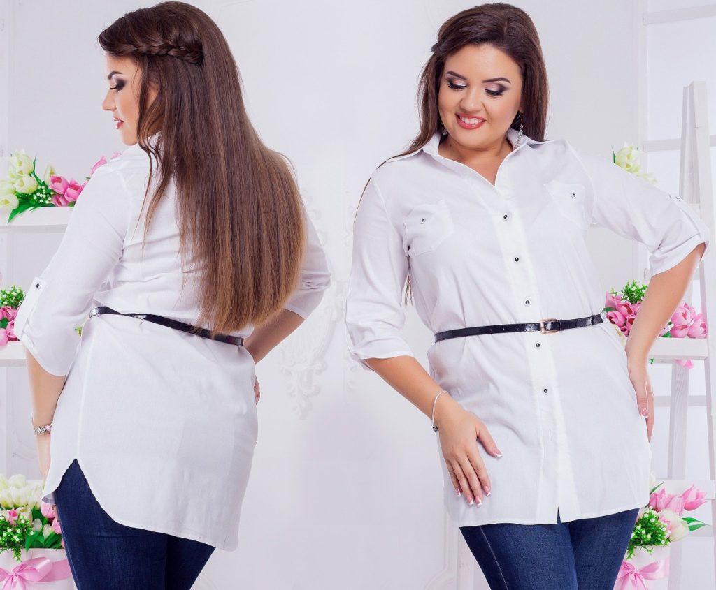 Женская рубашка белая 8019
