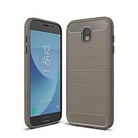 Чехол Carbon для Samsung J7 2017 J730 J730H бампер Gray