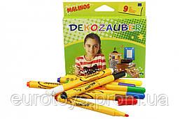 Фломастеры для декорирования нестираемые MALINOS Dekozauber 9 (8+1) шт