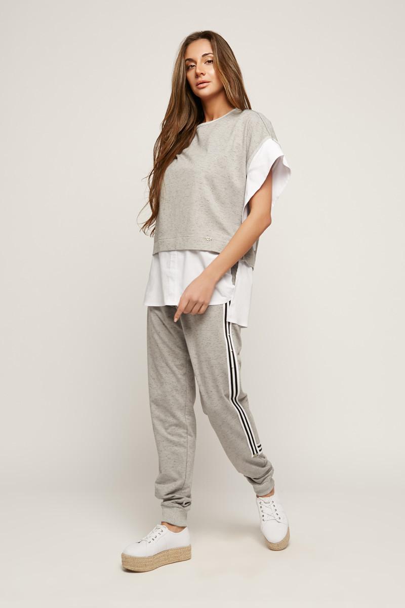 2163 костюм брюки Дорос, серый (S)
