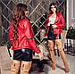 """Женская стильная короткая куртка демисезон 522 """"Кожа Косуха Рукава Змейки"""" в расцветках, фото 7"""