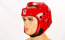 Шлем для таеквондо красный PU MOOTO BO-5094-R (реплика)