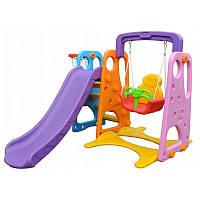 Дитячий майданчик. Гірка, гойдалки, баскетбол 3 в 1 Maxi Gate (дитячий ігровий комплекс)