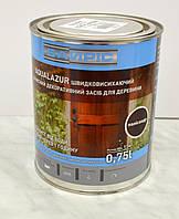 Быстросохнущее  защитное декоративное средство для древесины Байрис Аквалазурь (AQUALAZUR) 0,75 л