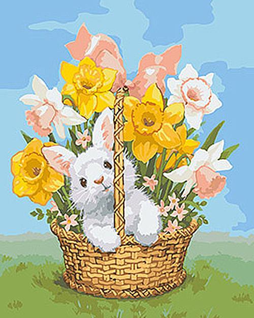 """Картина по номерам.Животные, птицы """"Весенний подарок"""" 40*50см KHO4112"""