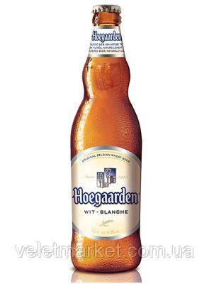 Бельгийское пиво Хугарден (Hoegaarden White) светлое 0.33 л