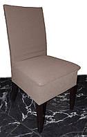 Плотный чехол на стул Коричневый темные соты