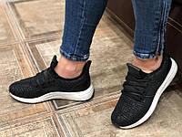 Женские кроссовки черные мягенькие  36