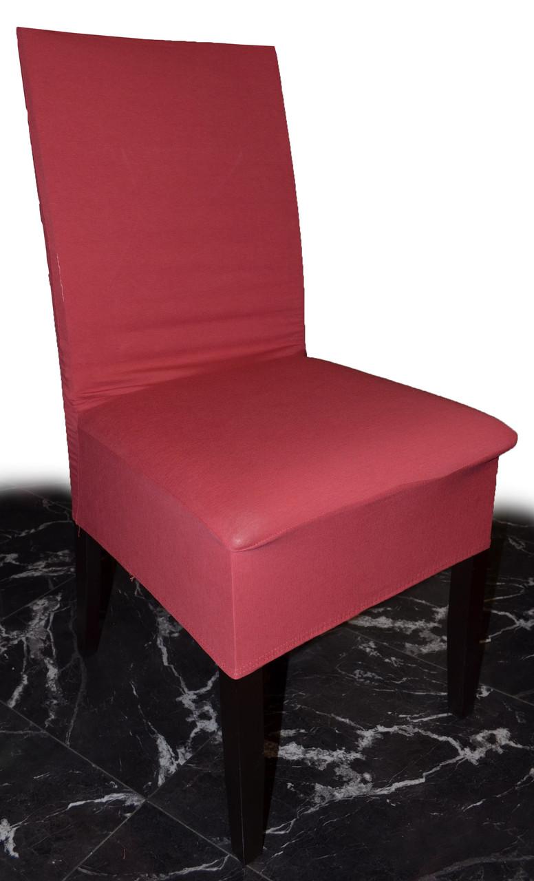 Плотные чехлы на стулья Коралловые