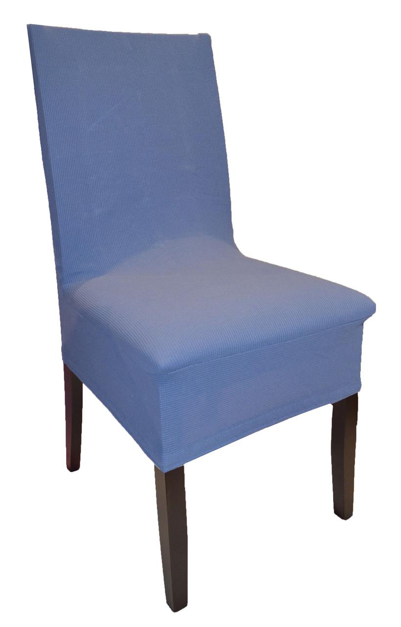 Чохли на стільці кольору синій джинс