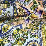 Единственная 1757-2, павлопосадский платок (шаль) из уплотненной шерсти с шелковой вязаной бахромой, фото 10