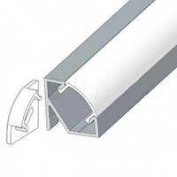 Комплект. Профиль для светодиодной ленты угловой 17х17 мм. ЛПУ17. Матовый. Неанодированный.