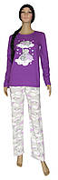 Пижама женская 19032 Hello Violette Слоники коттон, кофта и брюки, р.р.42-60