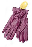 Женские кожаные перчатки бордовые 791s1