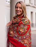 Венский вальс 1121-3, павлопосадский платок шерстяной  с шелковой бахромой, фото 6