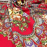 Венский вальс 1121-3, павлопосадский платок шерстяной  с шелковой бахромой, фото 7
