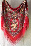 Венский вальс 1121-3, павлопосадский платок шерстяной  с шелковой бахромой, фото 8