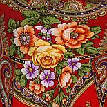 Венский вальс 1121-3, павлопосадский платок шерстяной  с шелковой бахромой, фото 9
