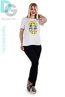 Стильная женская футболка 647 гл $