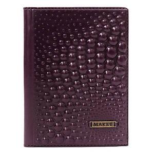 """Обложка для паспорта из серии """"Bubbles"""". Цвет баклажан"""